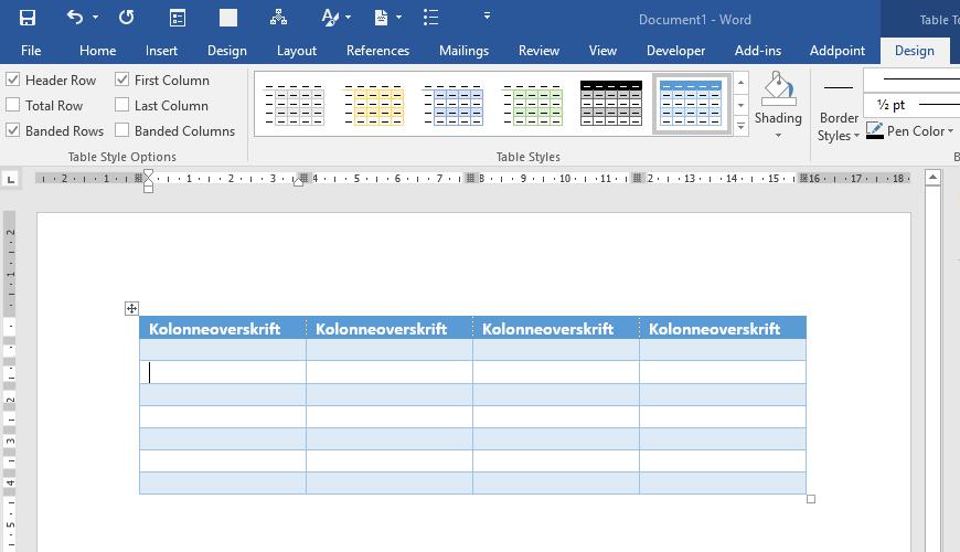blogg hvordan lage tilgjengelige og universelt utformede dokumenter i word