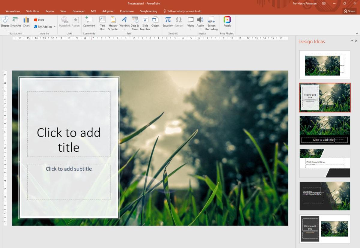 PowerPoint Designer: La PowerPoint designe presentasjonene for deg