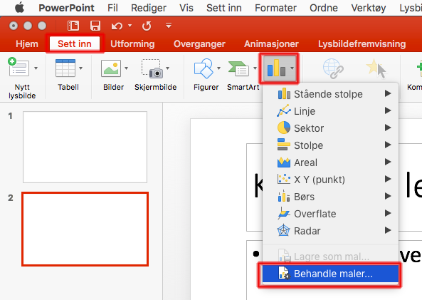 Implementering av grafmaler i Office for Mac
