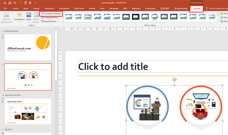 Hvordan komprimere bilder i PowerPoint