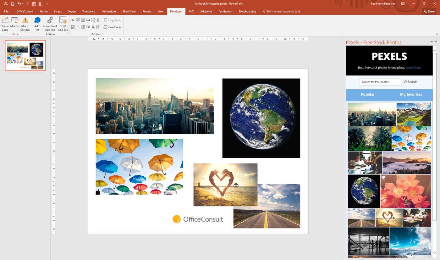 Pexels Office Add-In