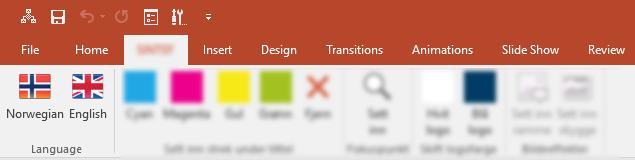 Tillegg for å endre språk i PowerPoint-presentasjoner