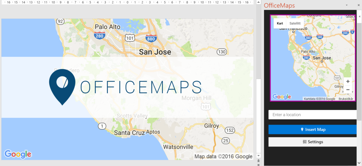 Officemaps for Microsoft office